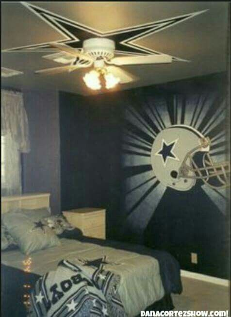 Sick room | Dallas cowboys decor, Dallas cowboys bedroom