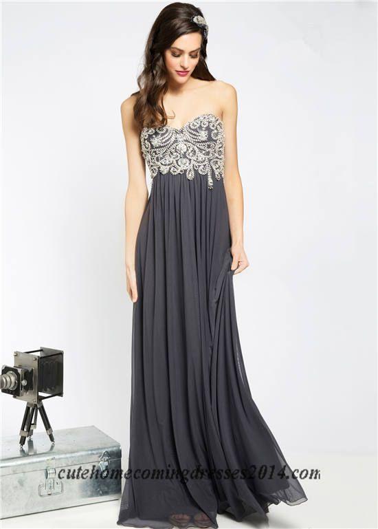 Beaded Long Prom Dresses 2015