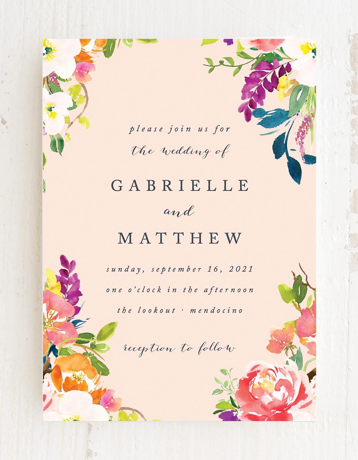 Spring Peach Wedding Invitations | Peach wedding invitations, Anemone  bouquet wedding, Fun wedding invitations