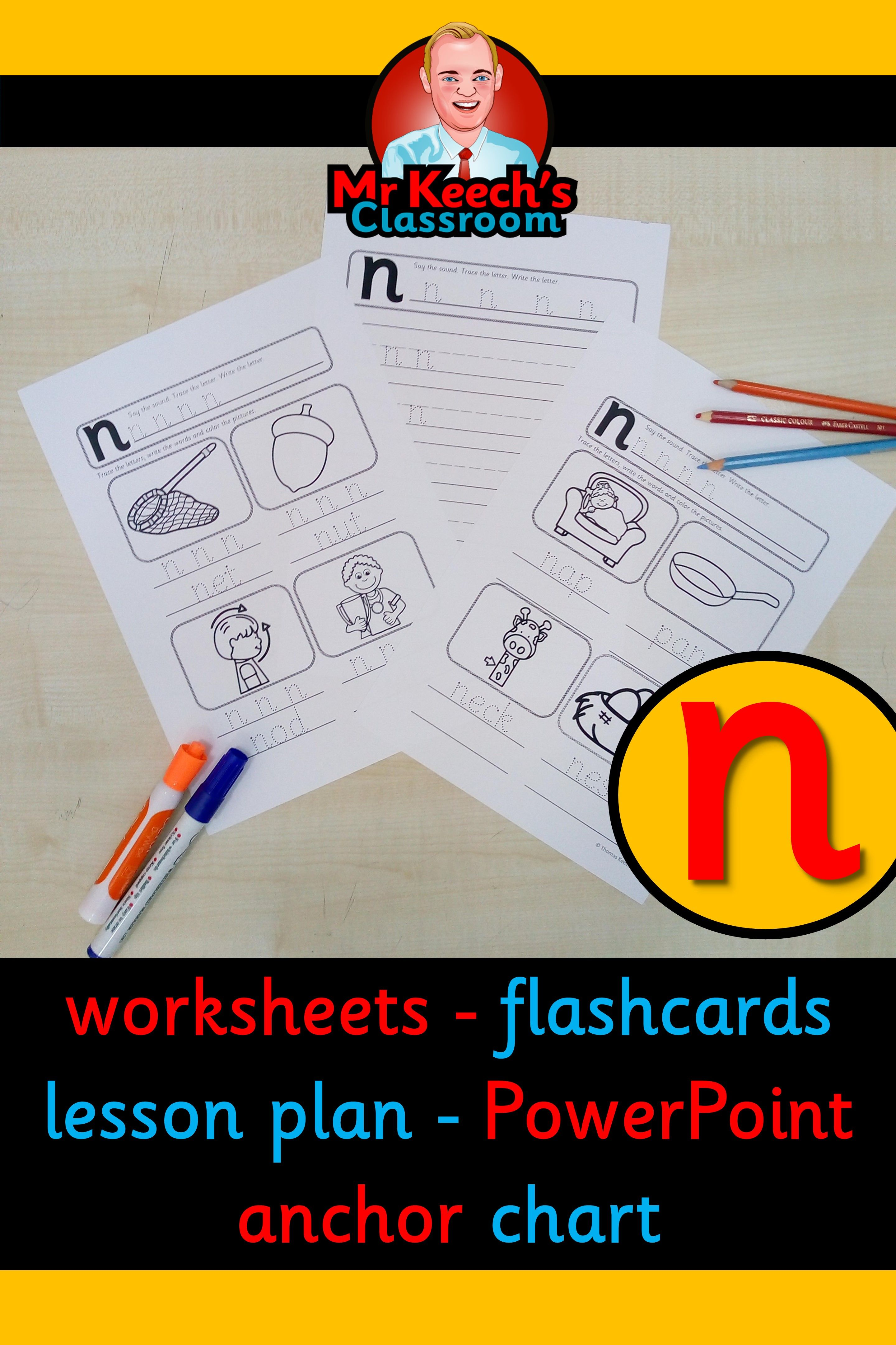 Phonics Worksheets Lesson Plan Flashcards This Nn Lesson