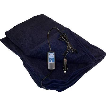 Trillium Heated Travel Throw : 12 Volt Car Blanket Navy