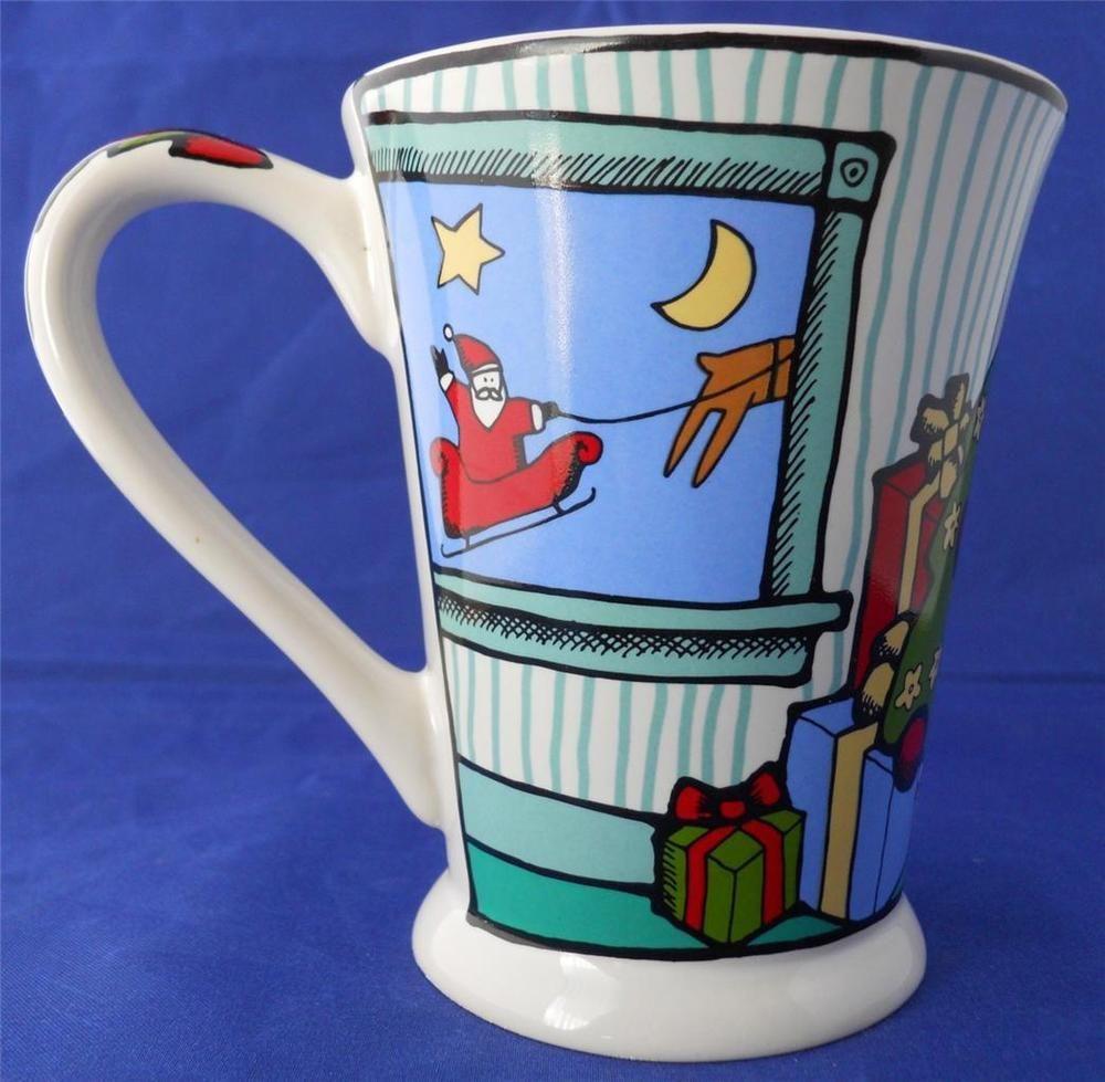 "Ursula Dodge Coffee Cup Mug ""Ursula's Christmas"" Holiday Christmas Tree Santa #SignatureHousewaresInc"