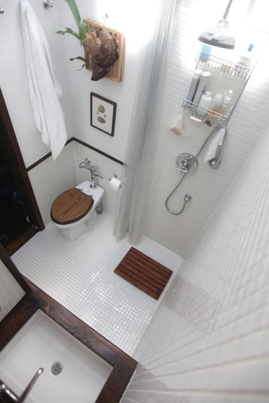 Tiny Bathroom Idea With Shower.