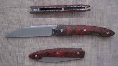 couteau a friction lame ATS 34 a émouture chisel