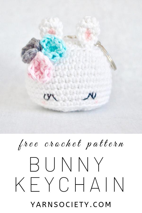 Bunny keychain amigurumi free pattern - Amigu World   900x600