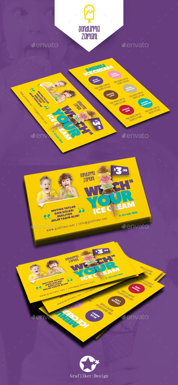 Ice Cream Business Card Templates Pinterest Ice Cream Business - Business card template indd