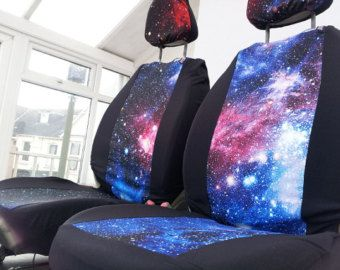 Galaxy Print Car Seat Covers Front Space 1999 English