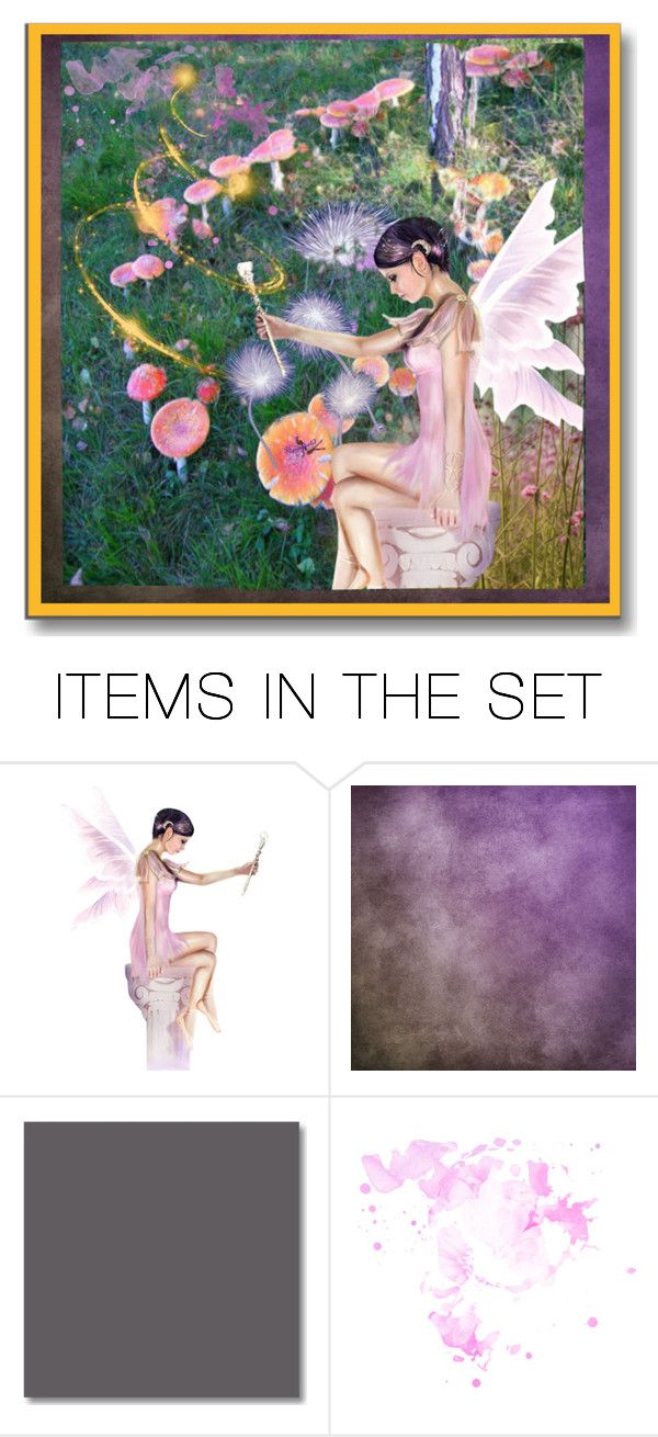 """""""Fairy Circle"""" by kathy-martenson-sanko ❤ liked on Polyvore featuring art"""