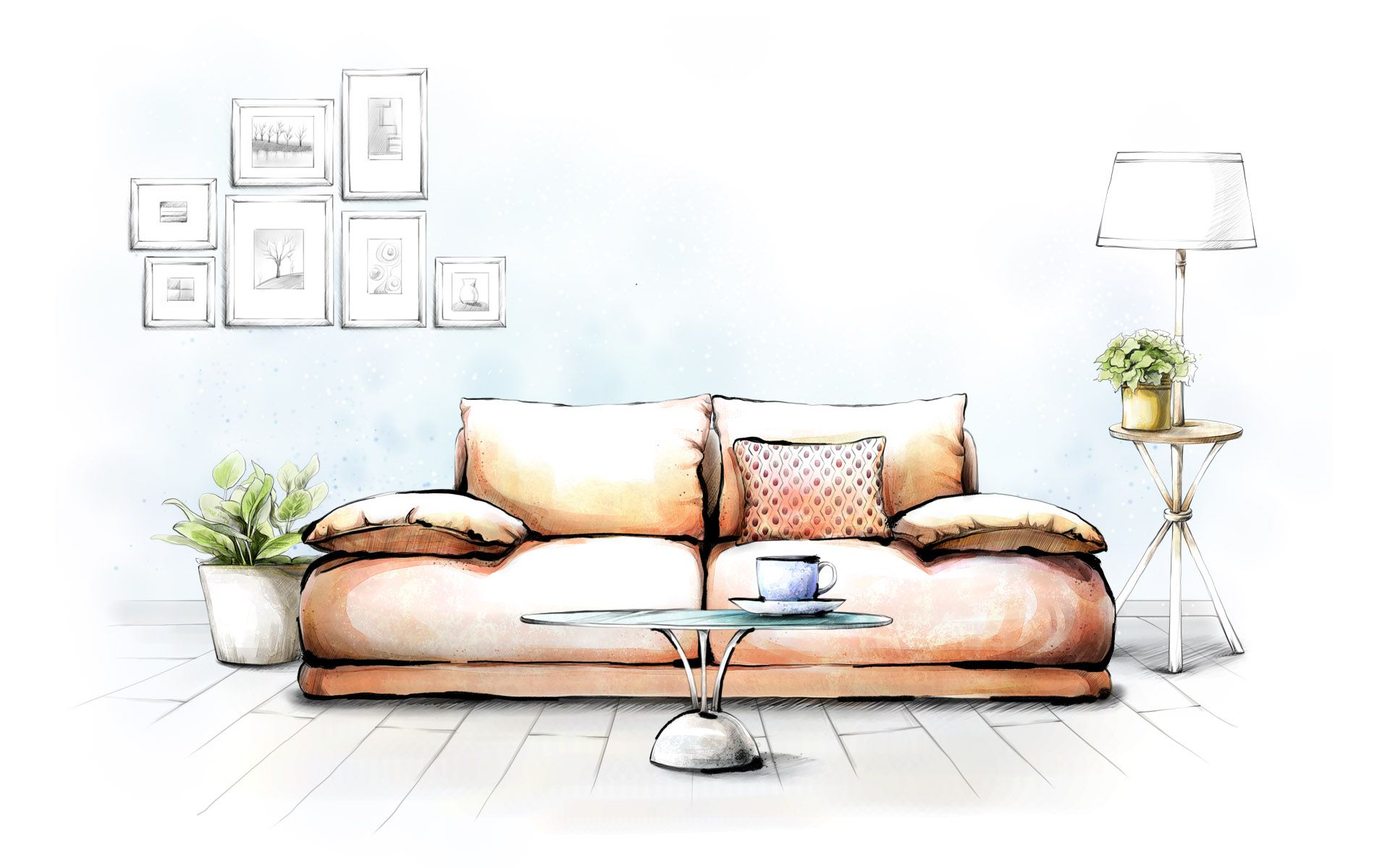 Pin By Evgenia On Hand Drawing Interior Pinterest Interiors
