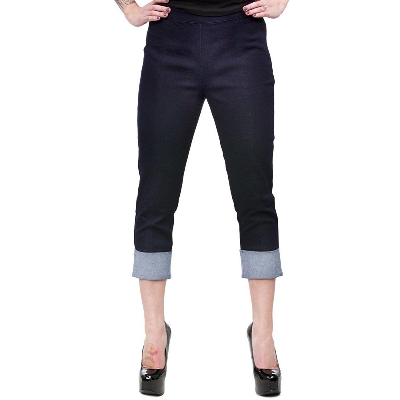 af3776afb8dc83 AmazonSmile: Women's Sourpuss Clothing Pedal Pusher Pants L: Clothing