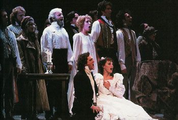 The original Broadway cast of Les Miserables in the final