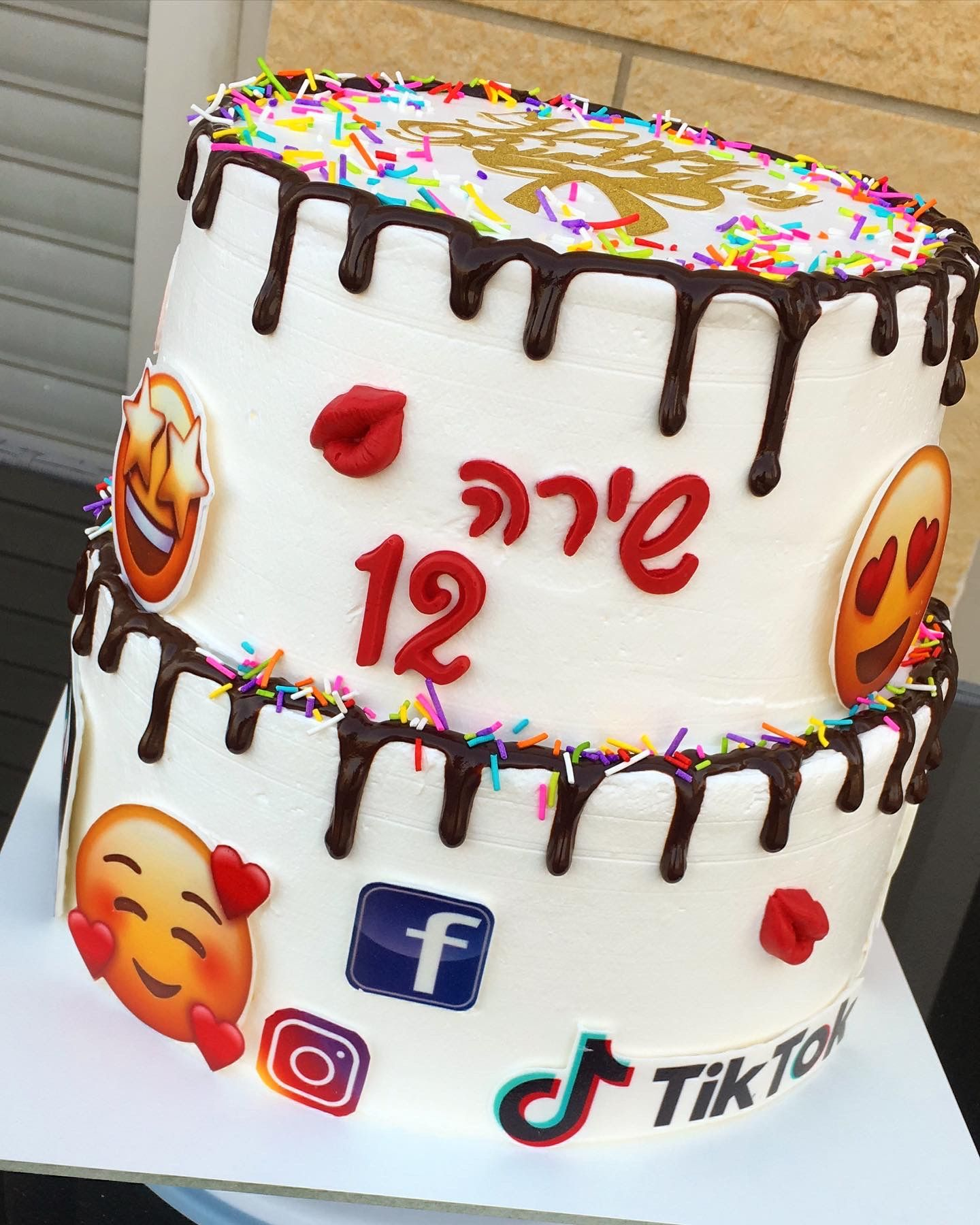 Birthday cake 12 years old girl cake design cake