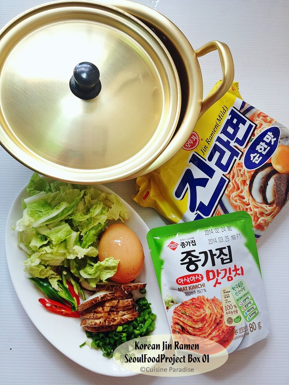 Seoulfoodproject 01 Instant Noodles Box With Recipe Cooking
