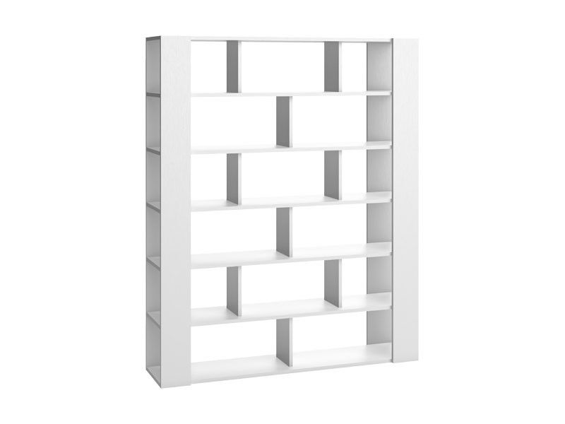 Grande biblioth que blanche de la collection mobilier for Salle a manger gain de place