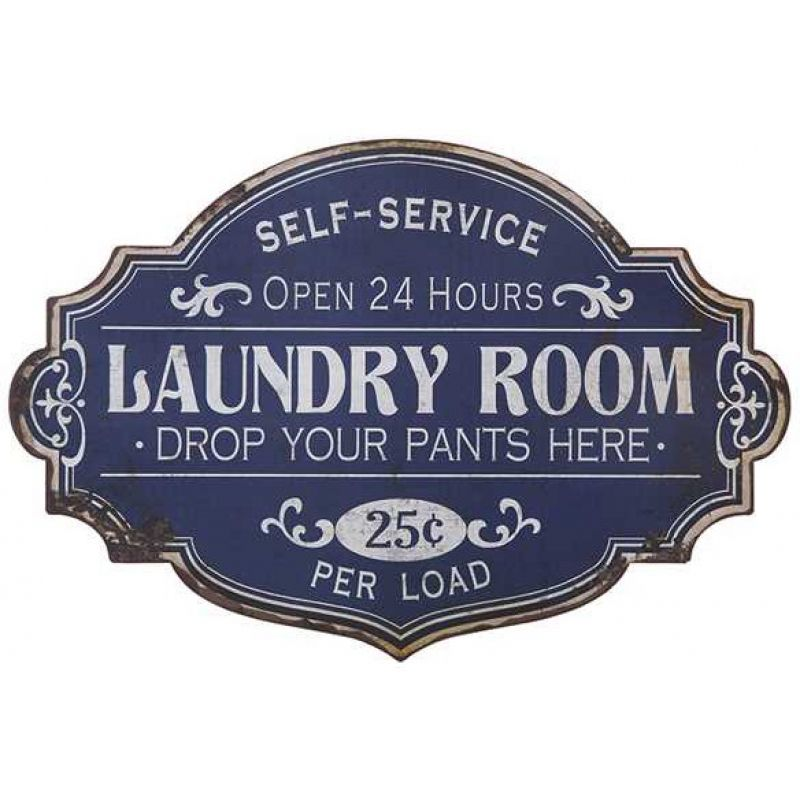 Vintage Laundry Room Signs Alluring Add A Little Vintage Charm To Your Laundry Room With This Blue And Design Ideas