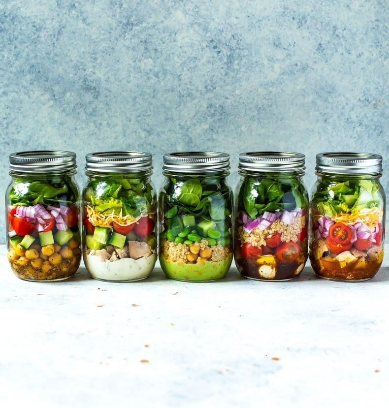 Mix and Match Mason Jar Salad Recipes for Easy Lunches! - Clean Eatin -5 Mix and Match Mason Jar
