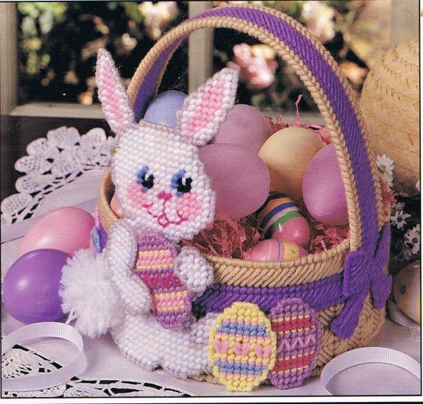 Free easter plastic canvas patterns easter bunny basket plastic free easter plastic canvas patterns easter bunny basket plastic canvas pattern by 4evermickey offeritem negle Images