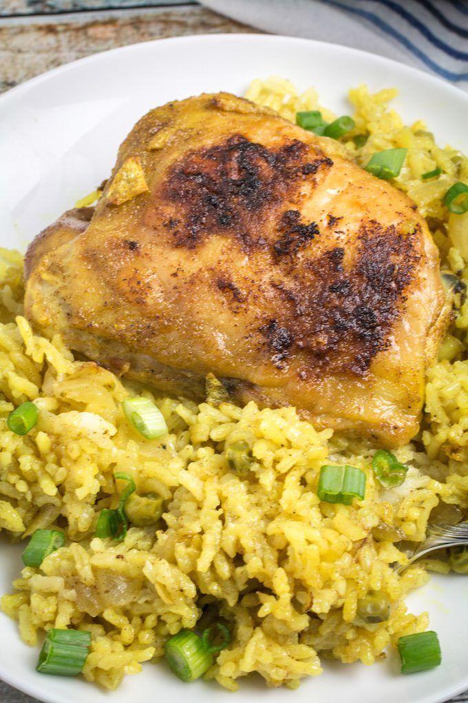 Lemon Garlic Chicken With Yellow Rice Recipe Lemon Garlic Chicken Yellow Rice Recipes Garlic Chicken And Rice Recipe