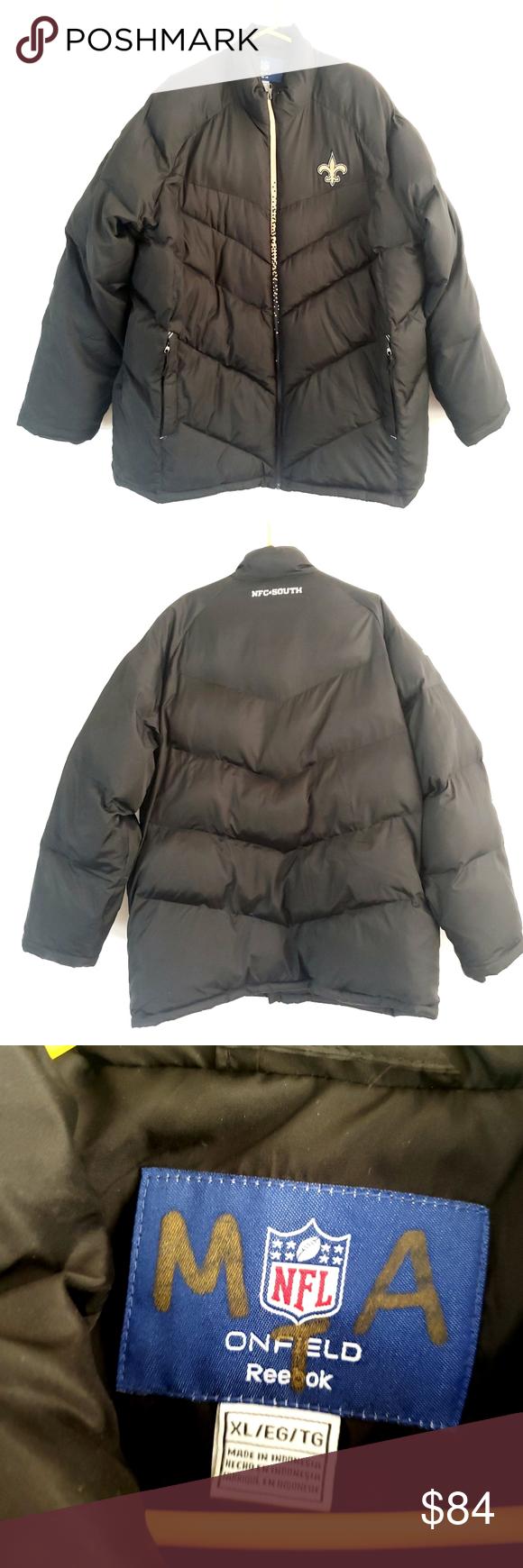 Reebok On Field New Orleans Saints Puffer Jacket Jackets Puffer Jackets Puffer Parka Jacket [ 1740 x 580 Pixel ]