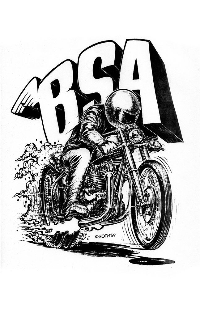 new hot rod poster 11x17 ed big daddy roth bsa motorcycle art print