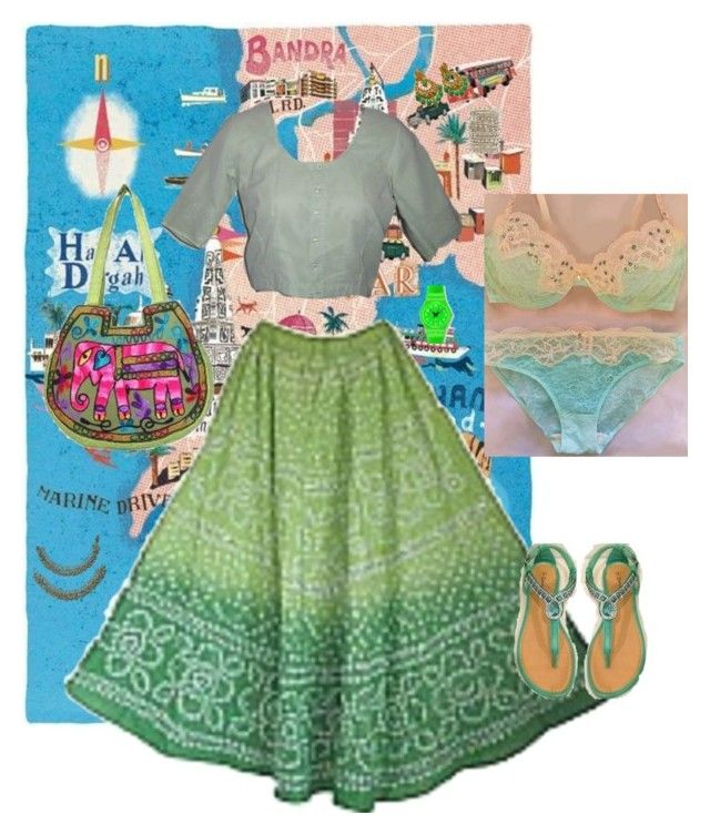pale green indian summer outfit by mahabbatkeaansoo on Polyvore
