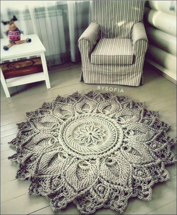Merveilleuses idées de tapis en crochet Tricot gratuit Bienvenue sur Blog   – Carpet