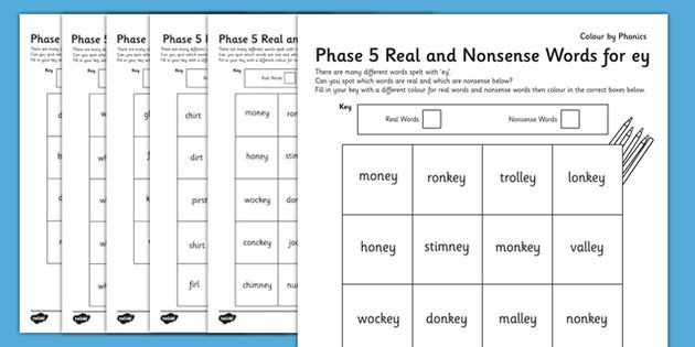 Phase 5 Colour By Phoneme Real and Nonsense Words Activity Pack ...