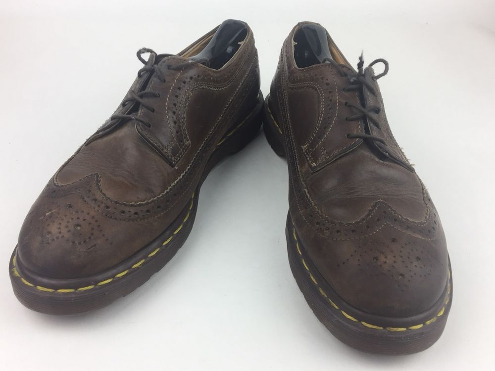 e0f927a4d74 Dr. Doc Martens 3989 59 Mens Brown Leather Wing Tip Shoes Size 9 UK 10 US   130  fashion  clothing  shoes  accessories  mensshoes  casualshoes (ebay  link)