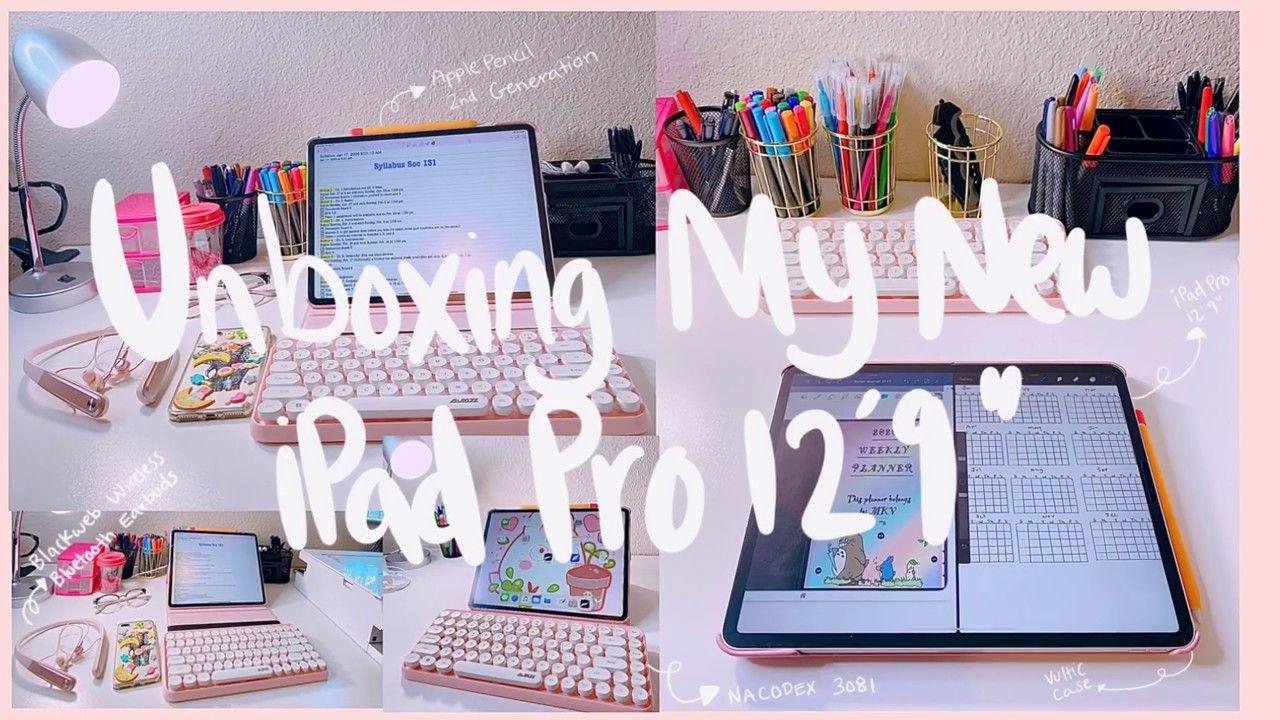 Unboxing Ipad Pro 12 9 Inch Apple Pencil Accessories 2020 Youtube Ipad Pro 12 Pencil Accessories Ipad Pro Apple Pencil