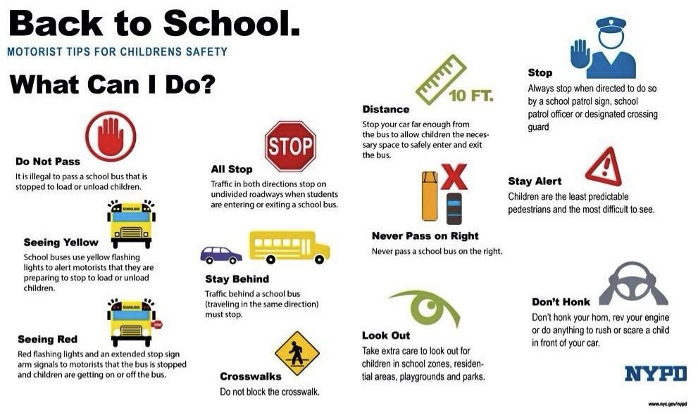 Useful Back to School traffic reminders from NYPD | Back-to-School ...