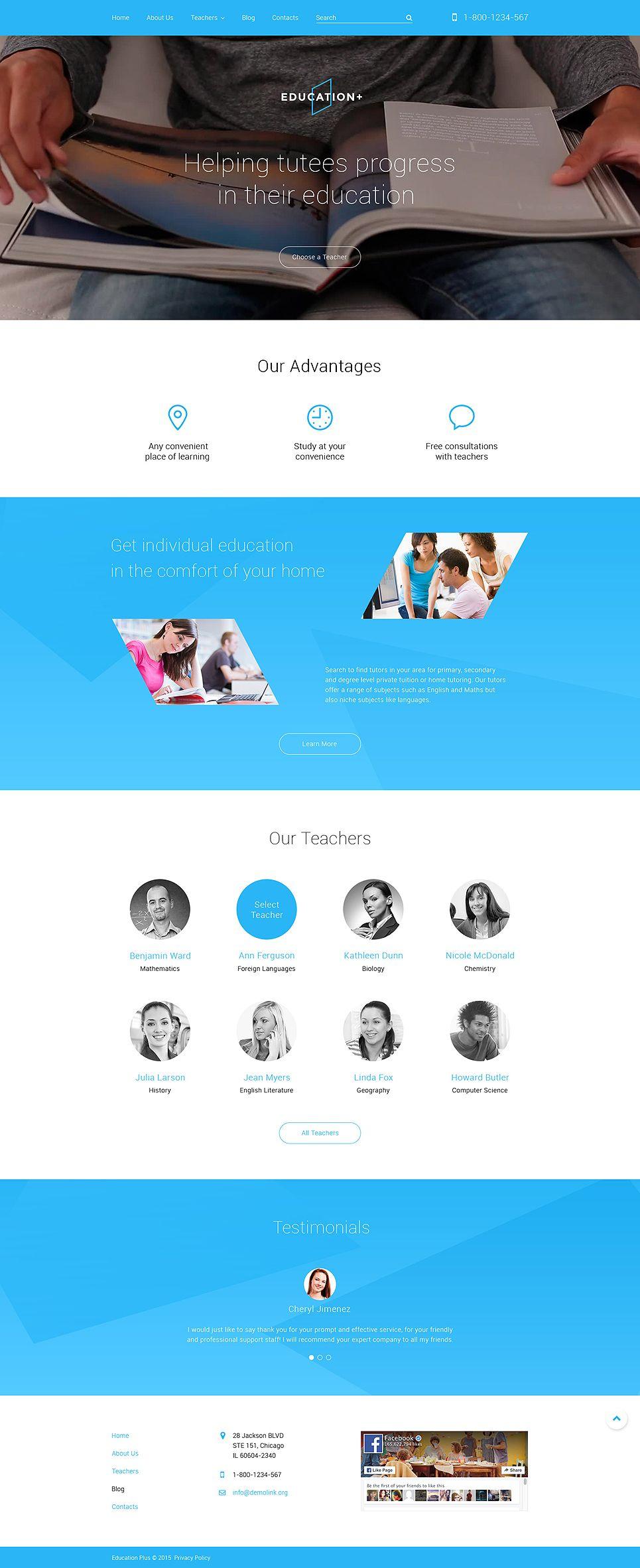 Education Drupal Template Pinterest