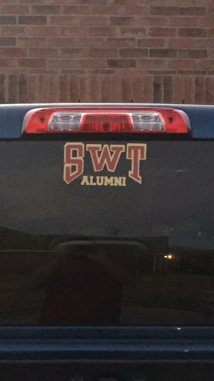 Swt Alumni Decal Car Decals Texas Stickers Decals [ 1500 x 844 Pixel ]
