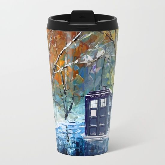 Starry Winter blue phone box Digital Art METAL TRAVEL MUG #mug #metaltravelmug #metal #tardis #doctorwho #tardisdoctorwho #davidtennant #vangogh #police #publiccallbox #starrynight #winter #art #nightbeforechritsmas #chritsmas