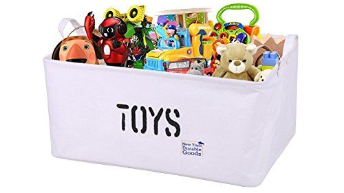 [Extra Large, 22 Inch] CANVAS Storage Container Bin Basket Organizer EASY  Multipurpose Organizing Toy Storage Baby Kids Pet Toys Closet Basket For  Magazines ...