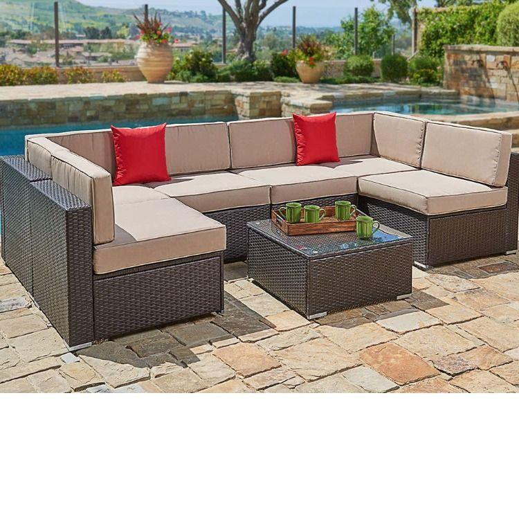 Comfortable Sofa Set This Contemporary Outdoor Sectional Sofa