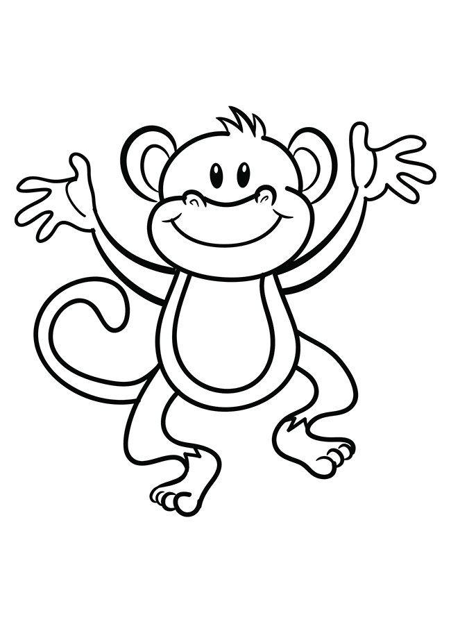 Animal Templates Free Premium Templates Monkey Coloring Pages Animal Coloring Pages Toddler Coloring Book