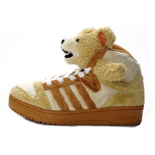 JS Men's adidas Originals Jeremy Scott Bear Shoes - Brown White