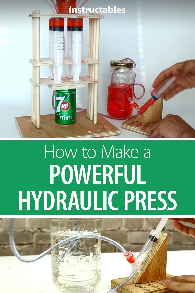 How To Make A Powerful Hydraulic Press Small Woodworking Projects Woodworking For Kids Steam Projects [ 1200 x 800 Pixel ]
