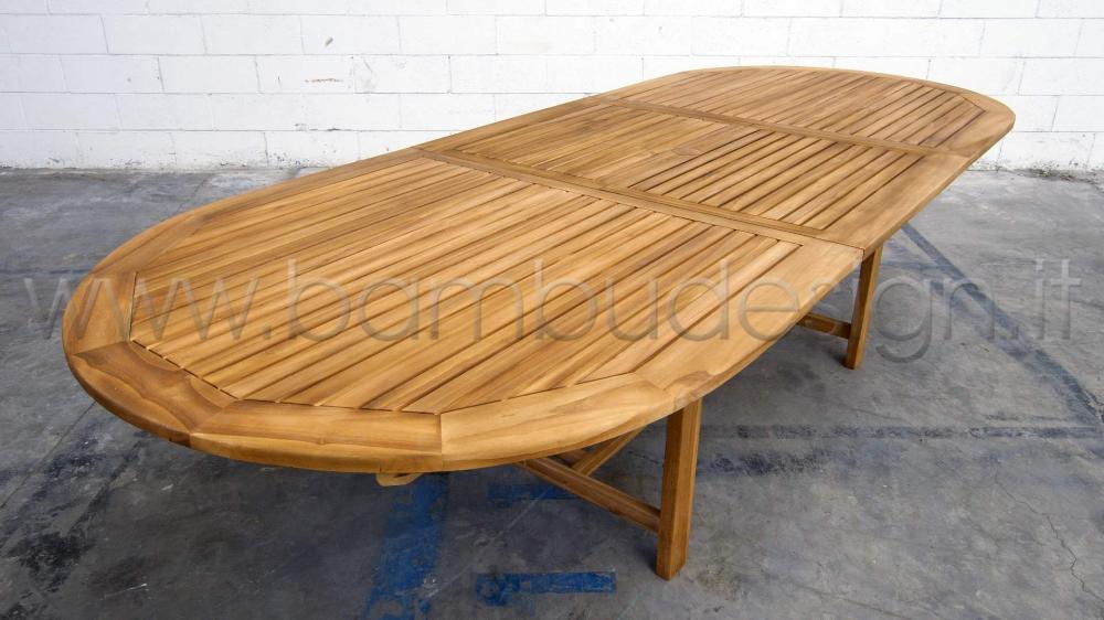 Tavoli Da Esterno Milano.Tavolo In Teak Ideale Per Esterno 220 300x120 H 75 Cm Bambu