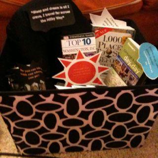 A retirement gift basket