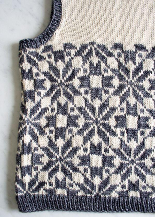 Whit's Knits: Kid's Fair Isle Vest - Purl Soho - Knitting Crochet ...