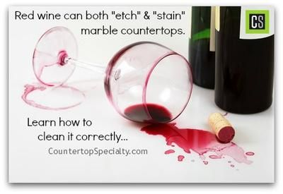 Cleaning Marble Countertop Red Wine Stain Wine Stains Wine