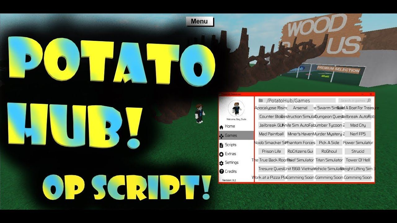 Roblox Op Script For Roblox Potato Hub Potatoes Games - roblox cant join game script