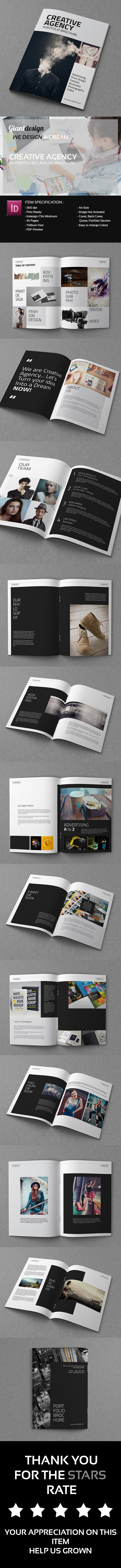 Creative Agency - A4 Portfolio Catalog Brochure on Behance