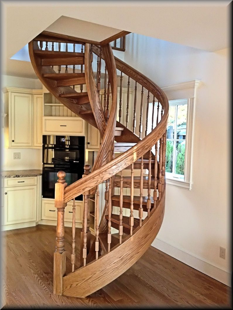Best Building Wooden Spiral Staircase Ideas Red Oak Wooden 400 x 300
