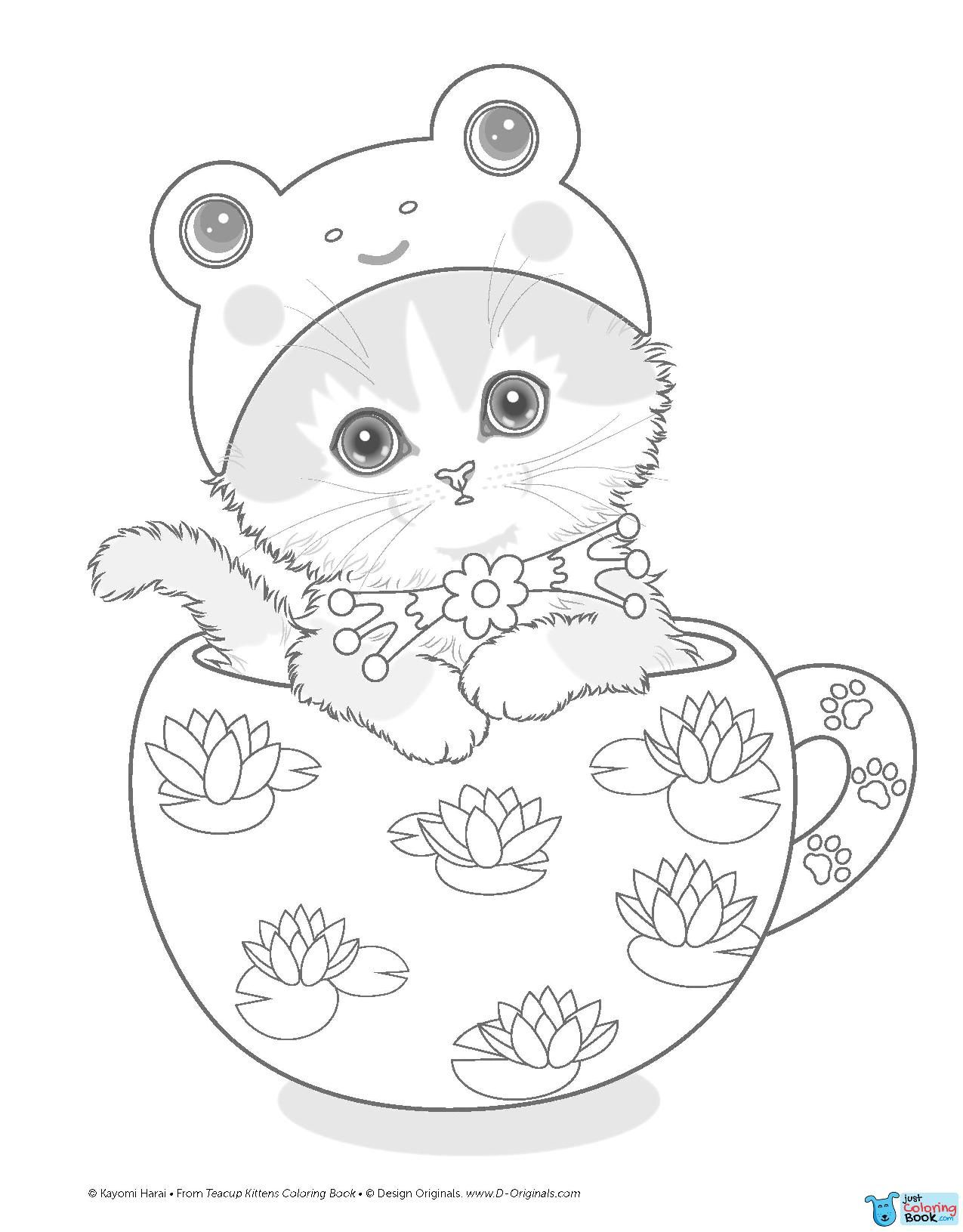 Teacup Kittens Kayomi Harai Cat Angel Coloring Pages Cat Throughout Download Lovely Kitten Colorin Kitten Coloring Book Kittens Coloring Angel Coloring Pages