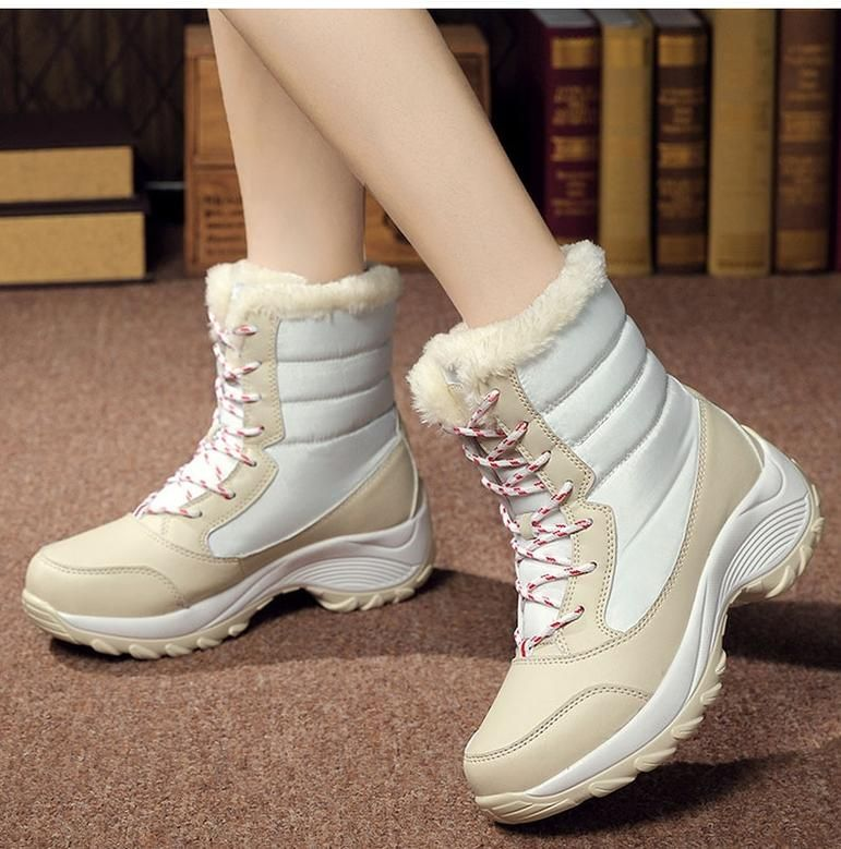 Women Boots Waterproof Winter Shoes #neiged#39;hiver