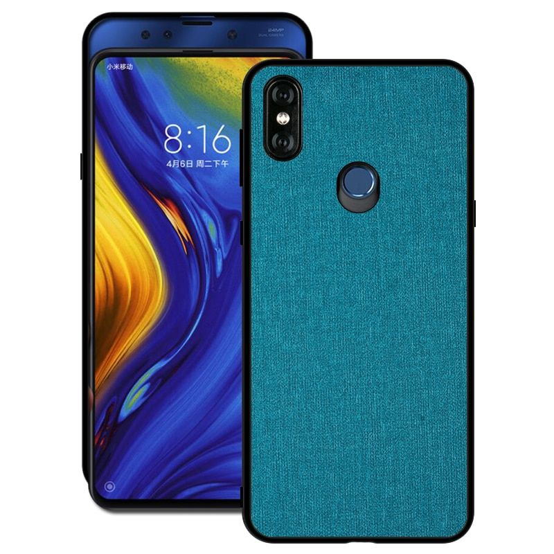 Luxury Cloth Hybrid Hard Pc Cover Case For Xiaomi Mi Mix3 Mix 3 Xiaomi Case Cover Case
