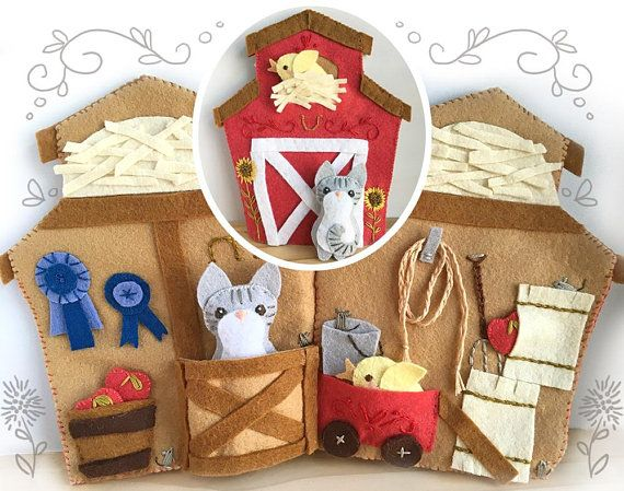 Little Red Barn Quiet Book PDF Sewing Pattern with Felt Animals, PDF ...