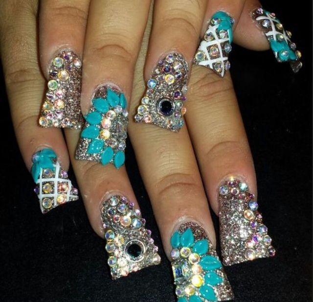 Feeling Daring Bling Nails Ghetto Nail Art Ideas Duck Feet